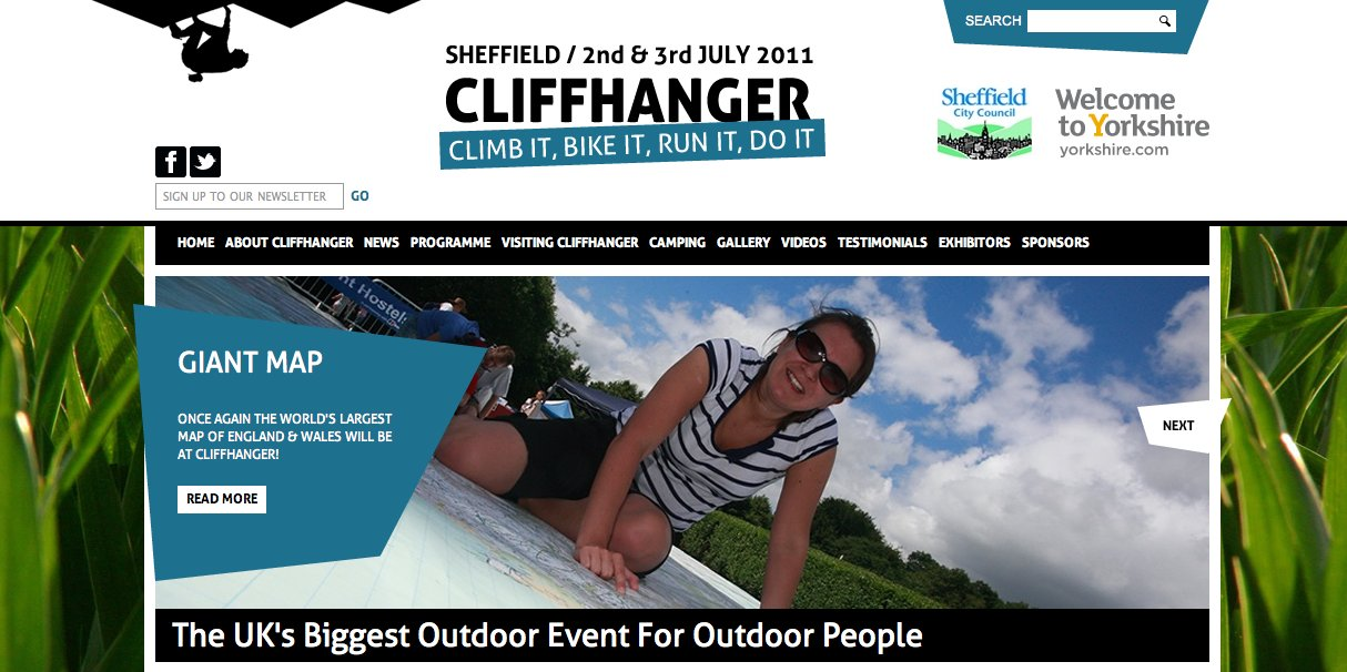 CLIFFHANGER WEBSITE MAKEOVER #4, 136 kb