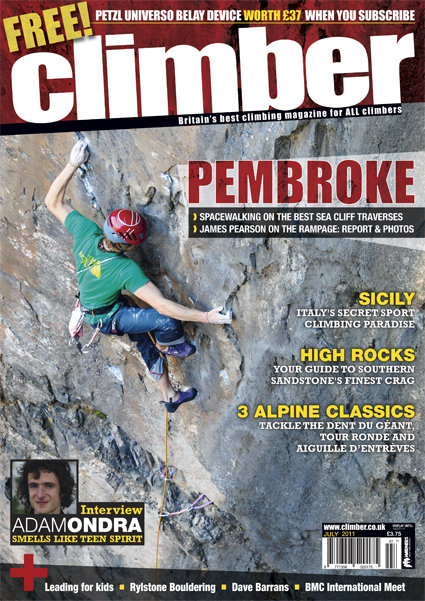 Climber magazine on sale 9th June - July issue #1, 138 kb