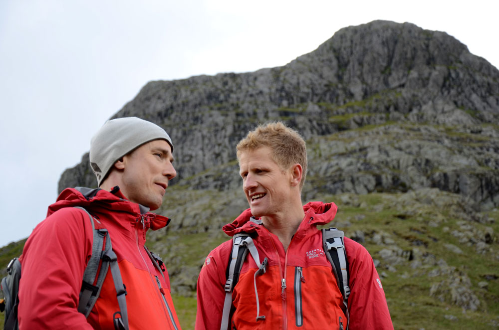Neil Gresham and Tim Emmett below Harrison Stickle, Langdale., 107 kb