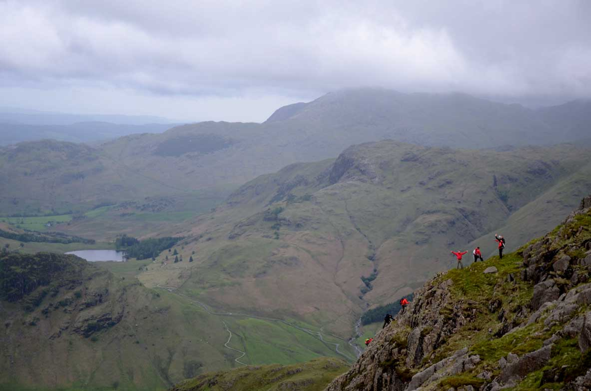 Scrambling up Harrison Stickle., 57 kb