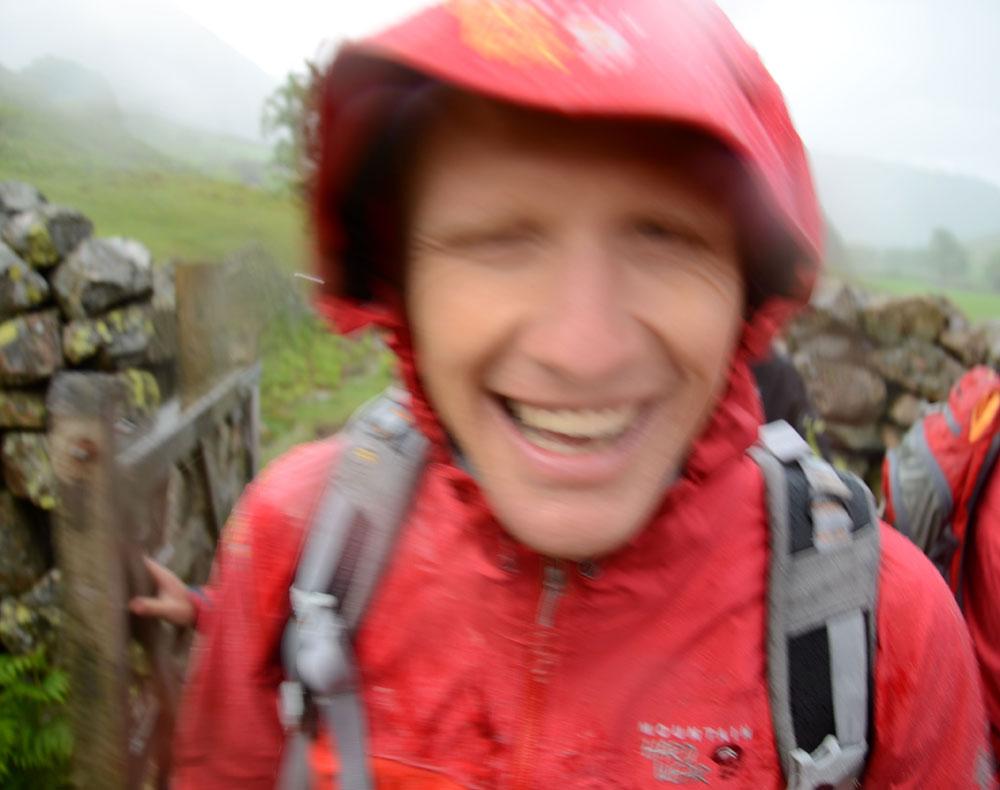Tim Emmett in the Drystein jacket experiencing proper bad weather. , 93 kb