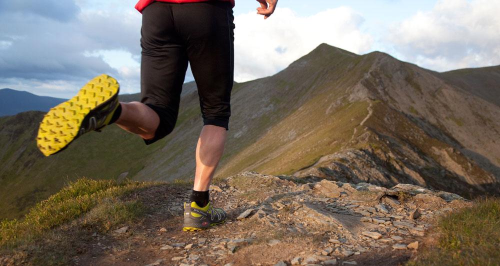 Running the Whiteside ridge towards Hopegill Head, near Keswick, 116 kb