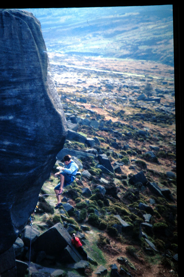 Seb Grieve takes 'the fall' on the the flake of Parthian Shot back in 1997, 150 kb