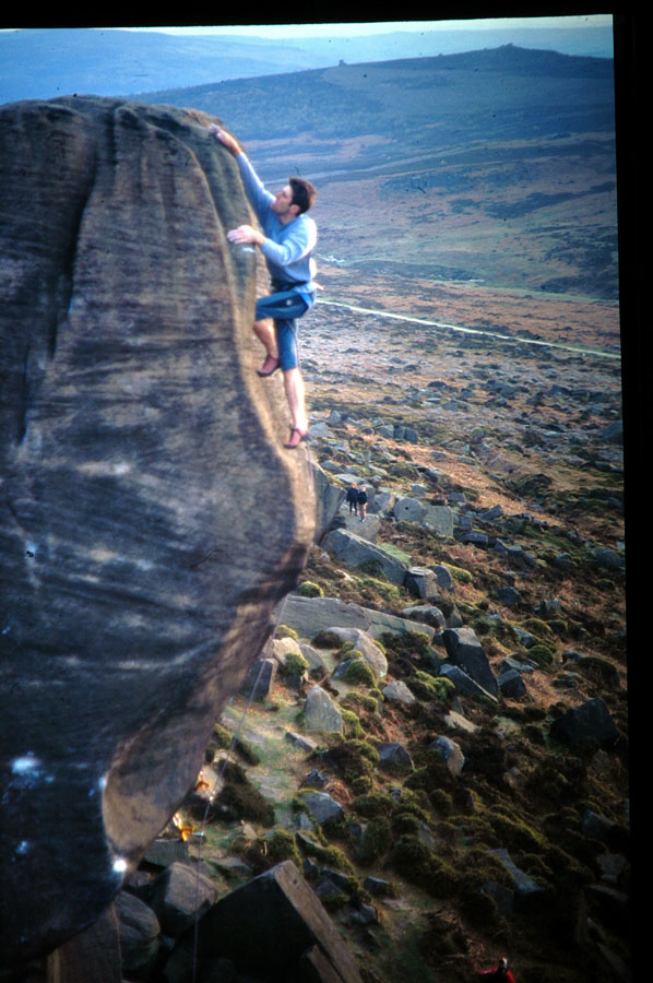 "Seb Grieve topping out on Parthian Shot - 1997. ""You can't fall now Seb..."", 145 kb"