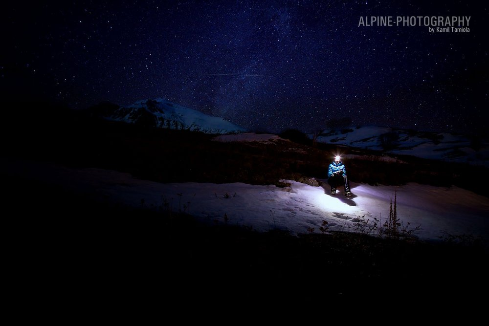 Beneath the starry skies. A photograph from winter climbing session (2010/2011) in La Meije, France., 60 kb