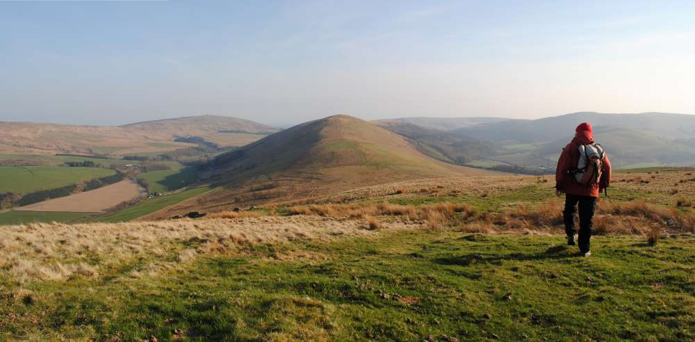 Above Langholm: Potholm Hill from Wrae Hill, 60 kb