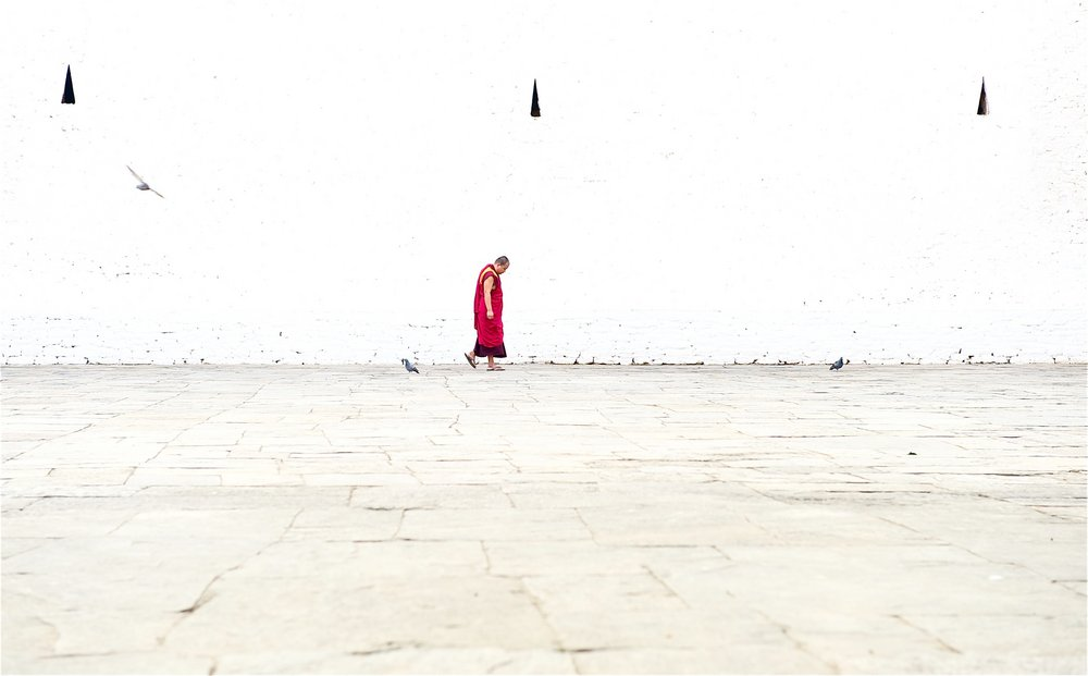 Monk in Bhutan, 56 kb