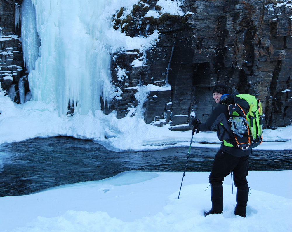 Ice climbing in Abisko Canyon, Arctic Sweden, 197 kb