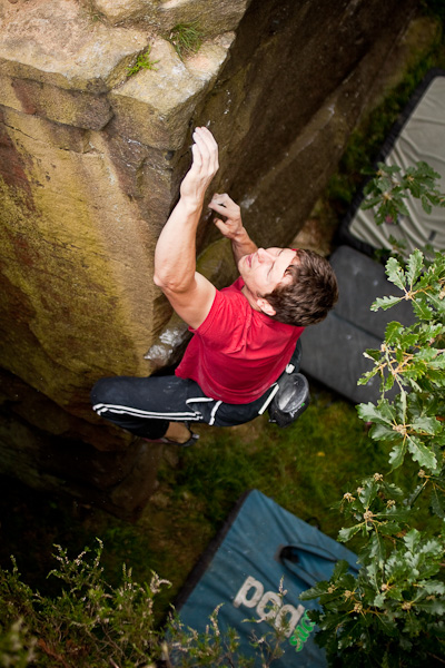 Andy Banks on Excavator's Arete, Dobb Edge, 150 kb