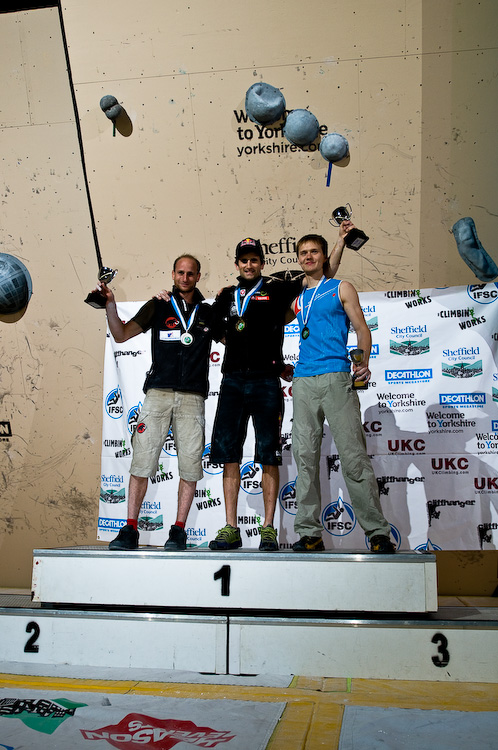 The men's podium: Cedrit Lachat, Kilian Fischuber and Alexsey Rubtsov, 193 kb