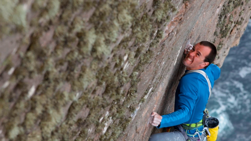 Dave MacLeod digging deep on the E10/11 crux pitch of The Long Hope Route, 150 kb