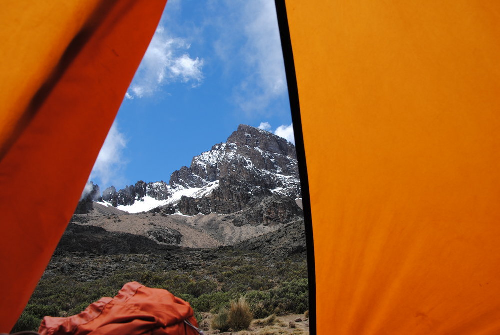 Mawnzi from my Tent on Kilimanjaro Trip, 130 kb