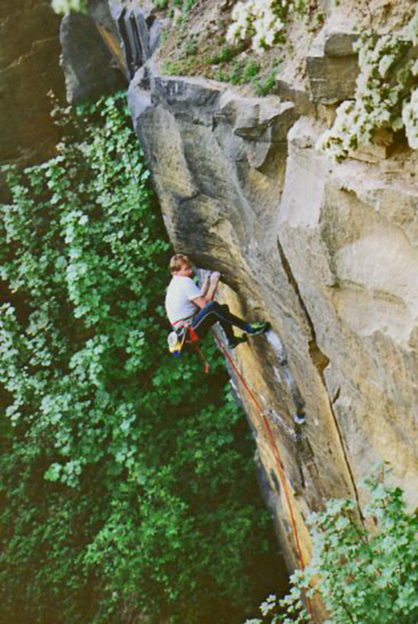Iain Edwards on the first ascent of JB Special - E6 6c, 155 kb