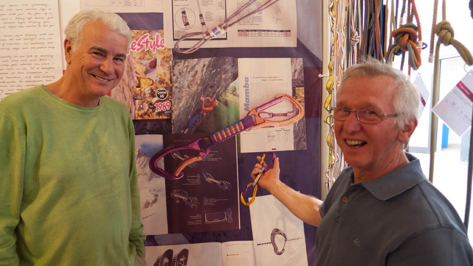 Richard Cuthbertson and Fred Hall of DMM with the Retro Mamba to celebrate 30 years of DMM, 100 kb