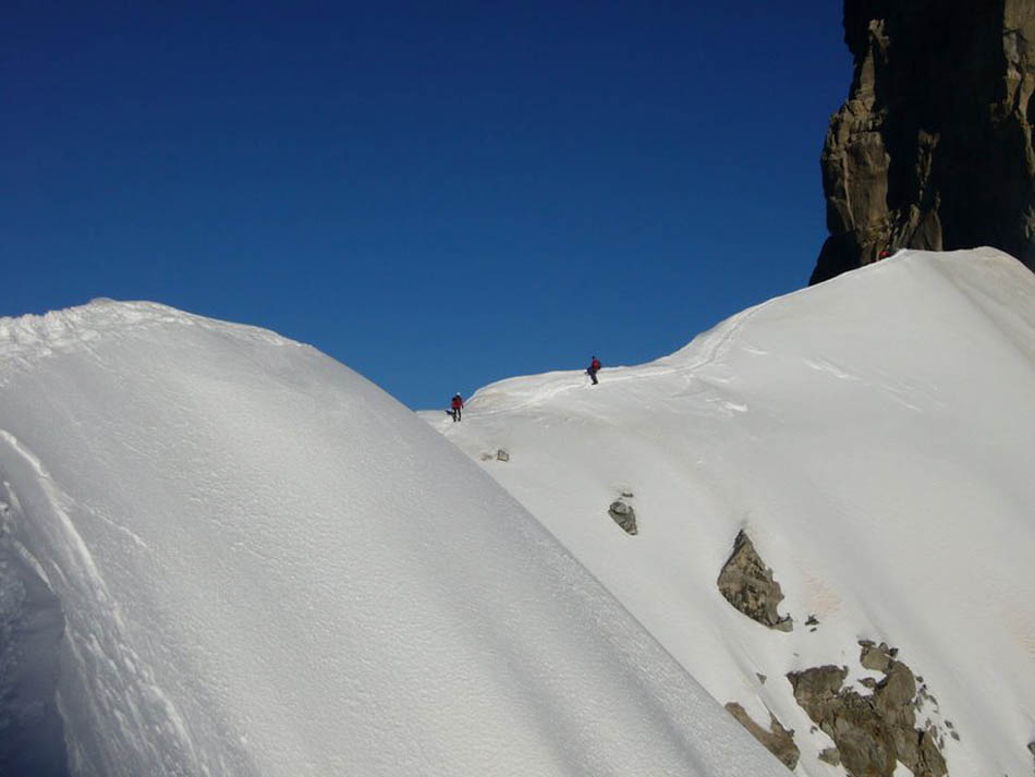 The start of the Arete just after the Salle a Manger, 61 kb