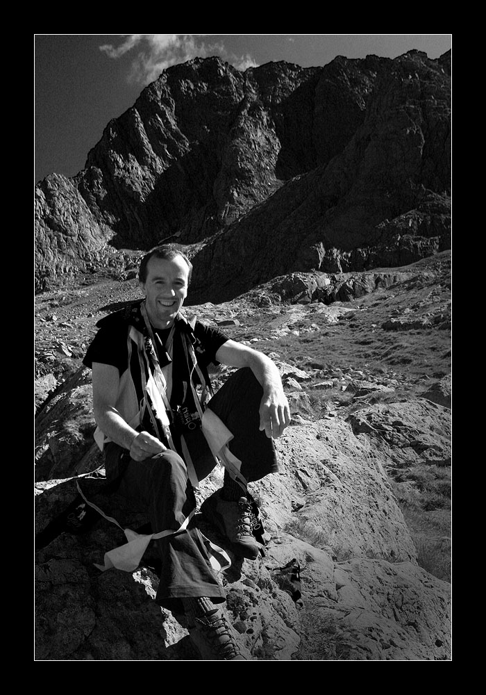 Dave MacLeod on Ben Nevis, where he famously completed the hardest traditional rock climb in the world, the ungraded Echo Wall., 193 kb