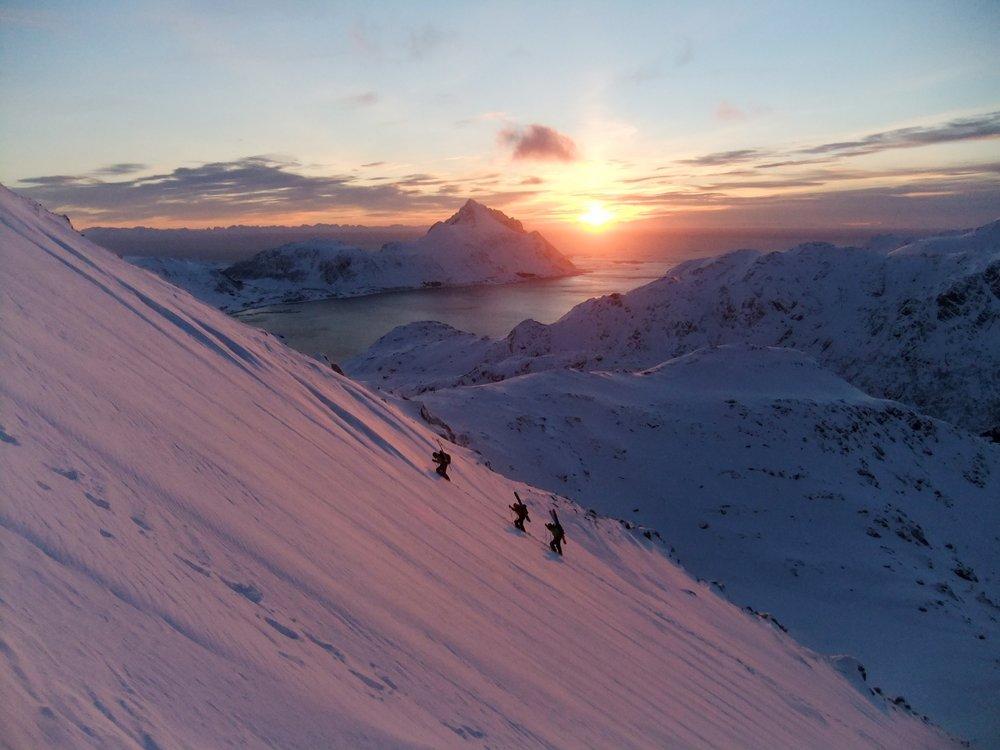 Ski mountaineering, Nappstind, Lofoten, 92 kb