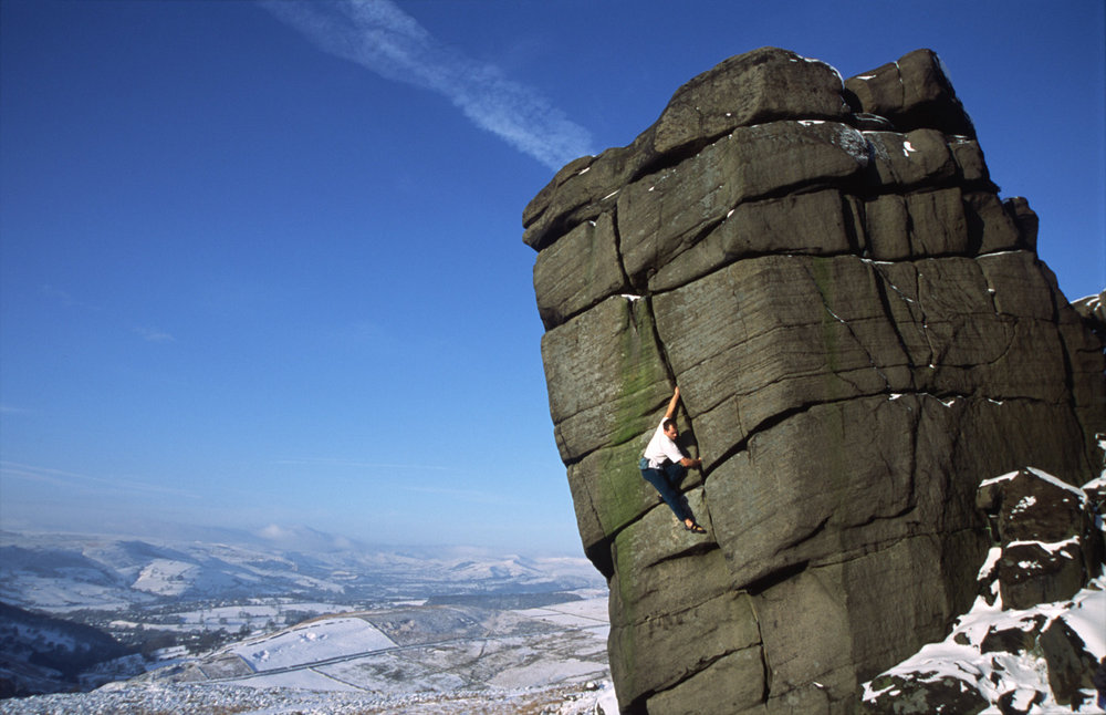 Adrian Berry on The File VS at Higgar Tor, 132 kb