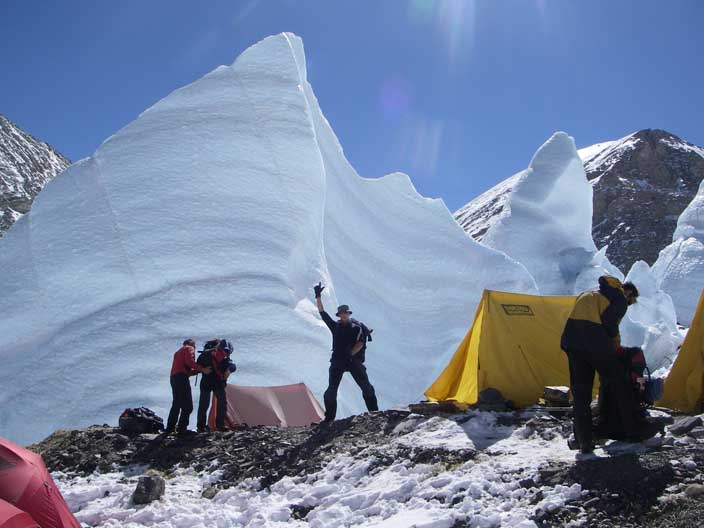 Interim camp on Mt Everest, 57 kb