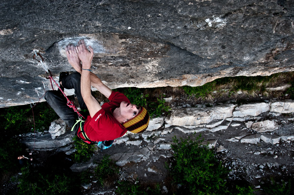 Luke Tilley redpointing the 8b of L'ami de tout le monde at Ceuse, 222 kb