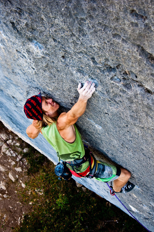 Ed Hamer cranking the classic 7b+ of Blocage Violent on his holiday to Ceuse, 183 kb