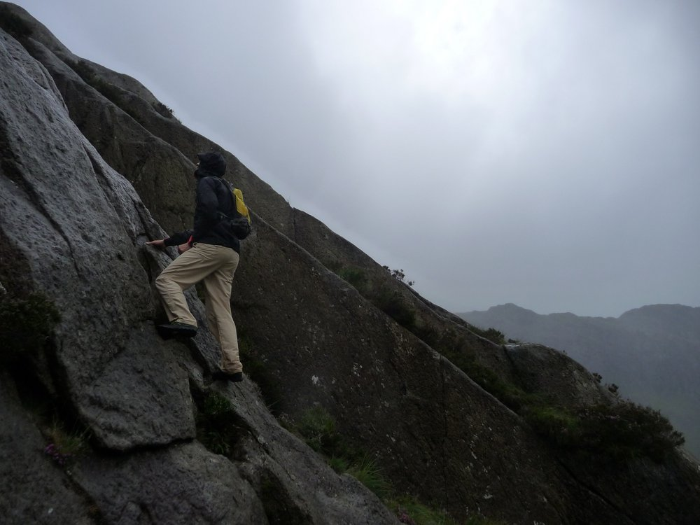 Damp scrambling in Ogwen, 89 kb