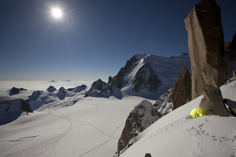 Testing the BD Firstlight Tent in Chamonix pre expedition, 99 kb