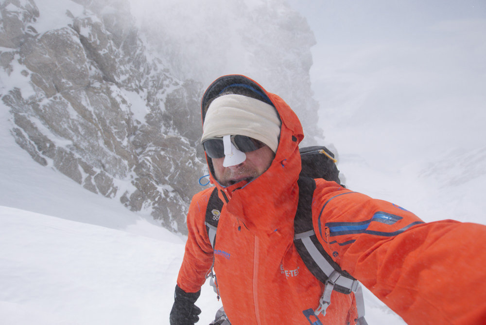 For when the elements get rough....Mammut's Eiger Extreme Nordwand Jacket On Rescue Gully, Denali. , 117 kb