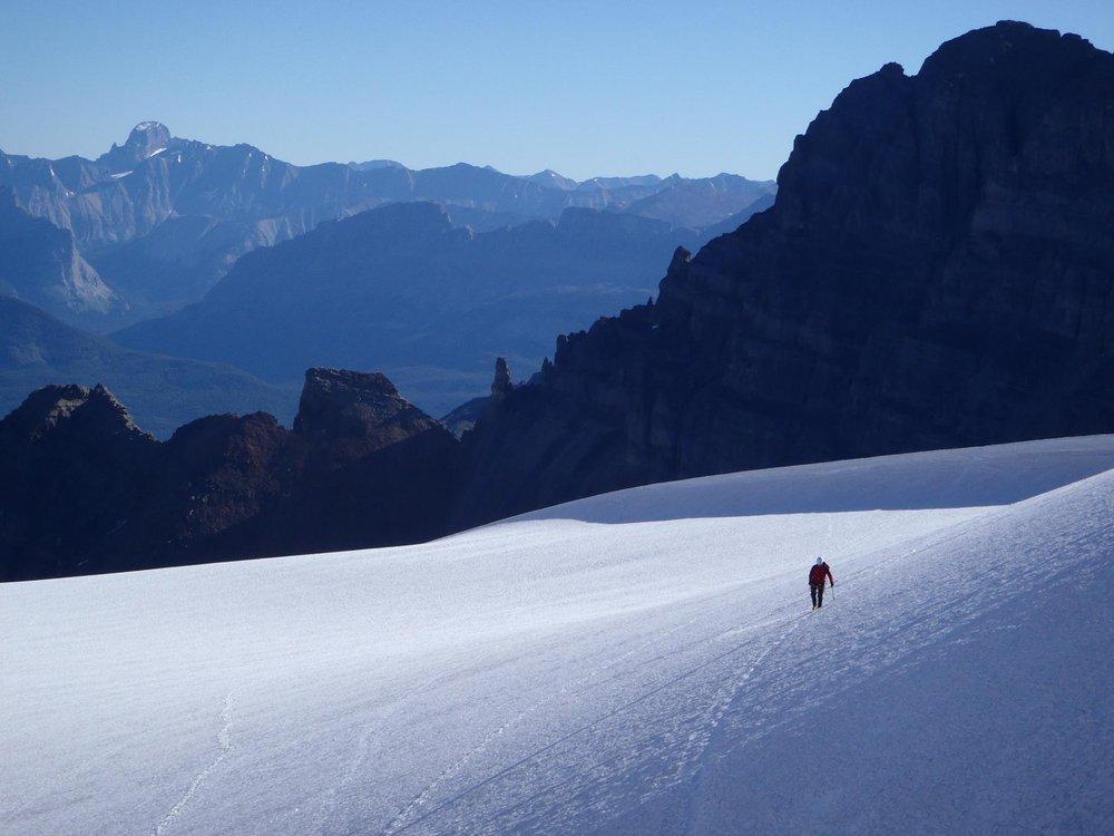 Heading home - lower slopes of Mount Little, 95 kb