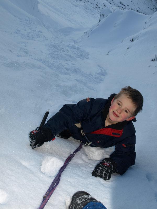 Ben aged 8 in Ben Lui's Central Gully, 76 kb