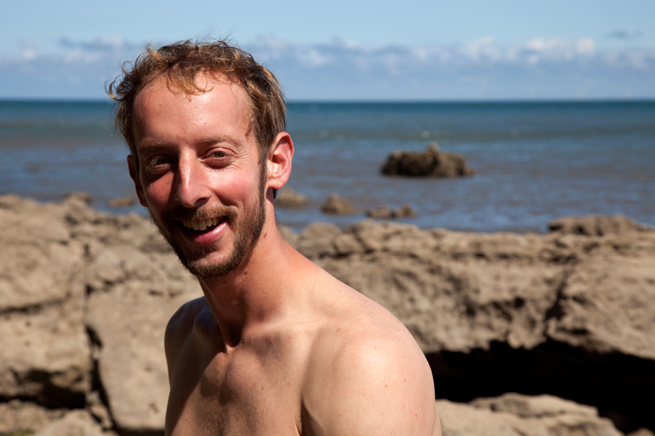 Neil Dyer at Lower Pen Trwyn, North Wales, 128 kb