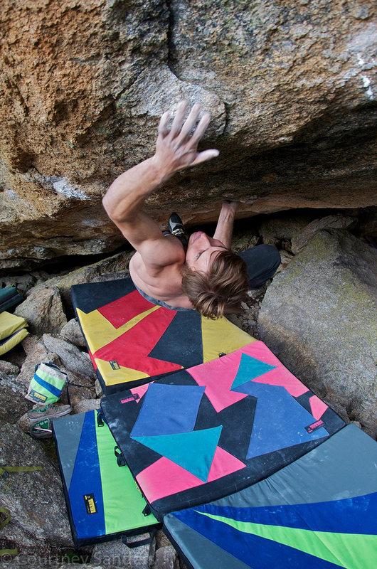Daniel Woods on Anam Cara, 8B+/C, Silvretta, 185 kb