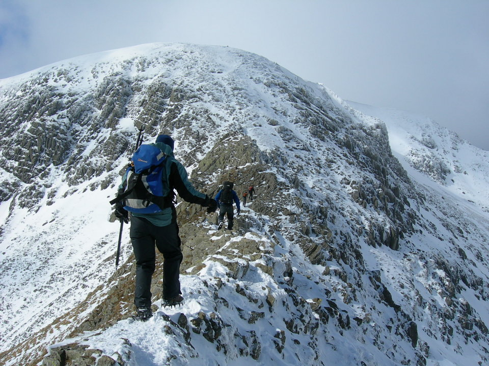 Helvellyn from Striding Edge, 209 kb