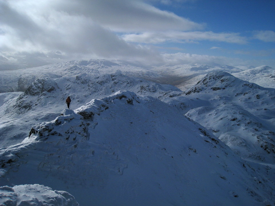 On the Meall Garbh arete, 110 kb