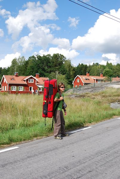 Muriel Sarkany on the island of Ingarö, Sweden, 76 kb
