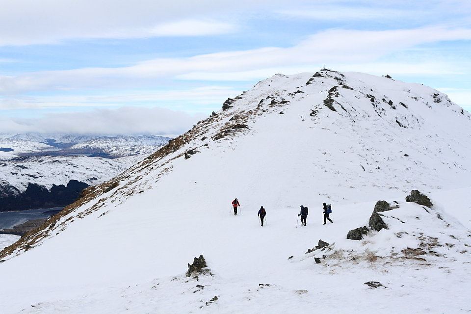 Approaching the summit of Ben Ledi, 100 kb