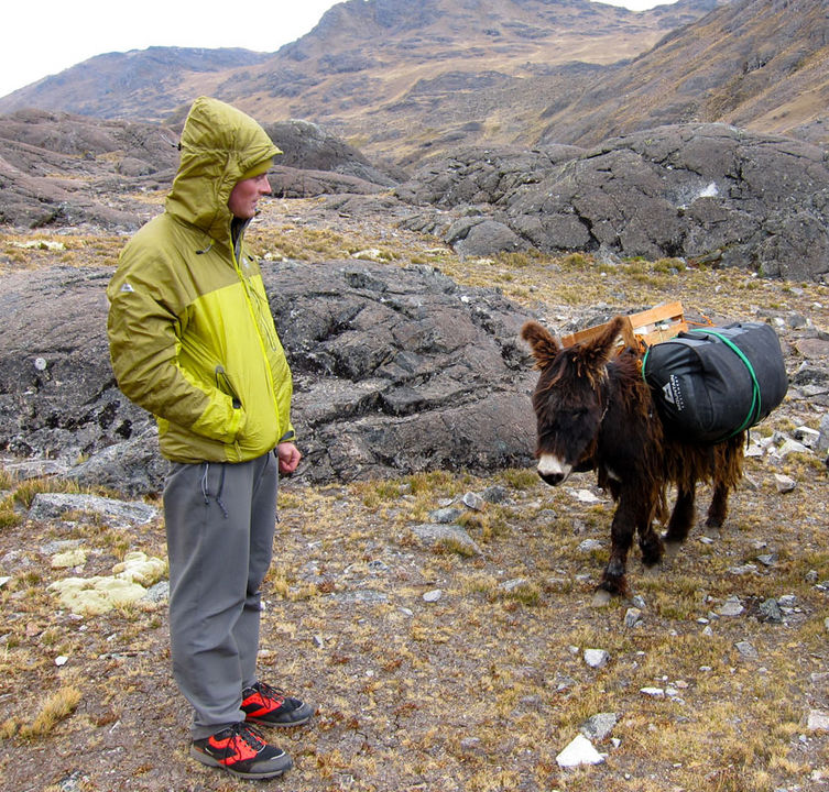 Hamish with a laden donkey - but which is which!?, 212 kb