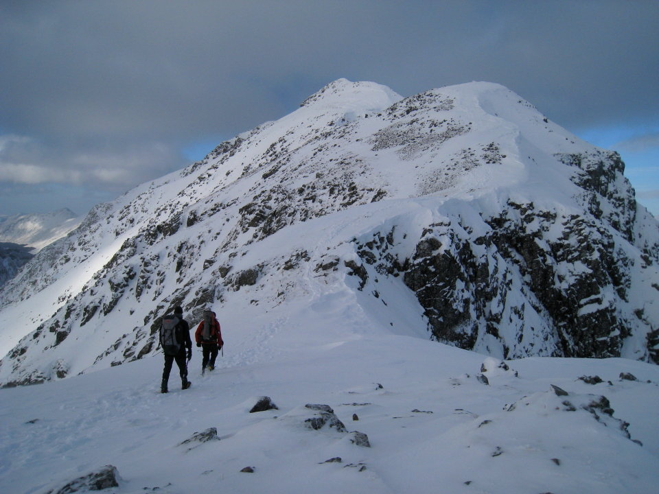 On the east ridge of Bidean nam Bian, 124 kb
