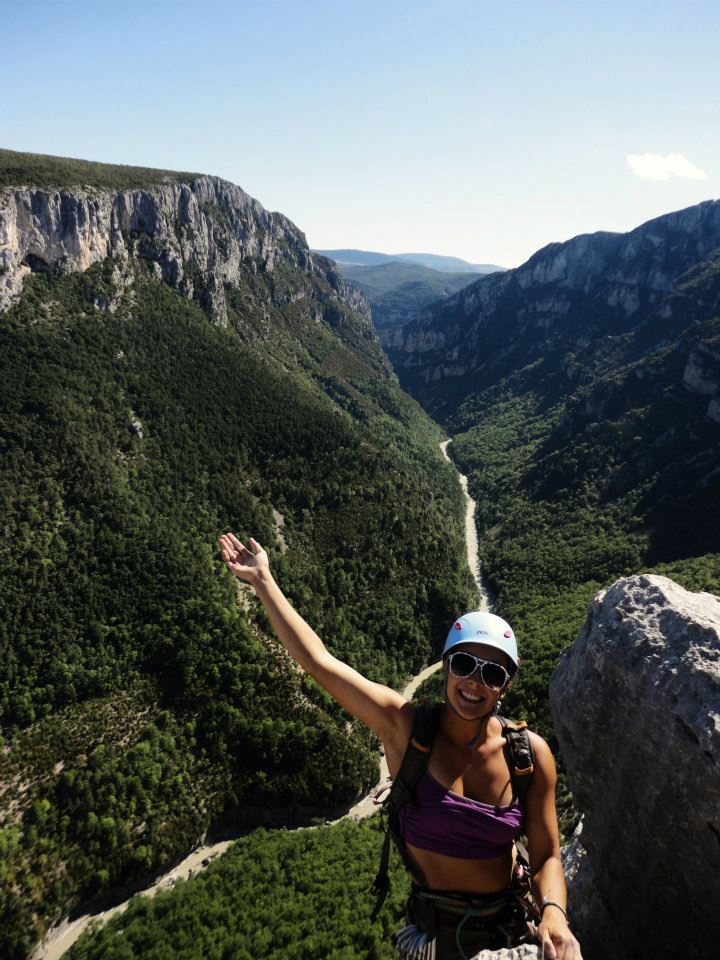 Heather Florence above the Verdon Gorge, France, 135 kb