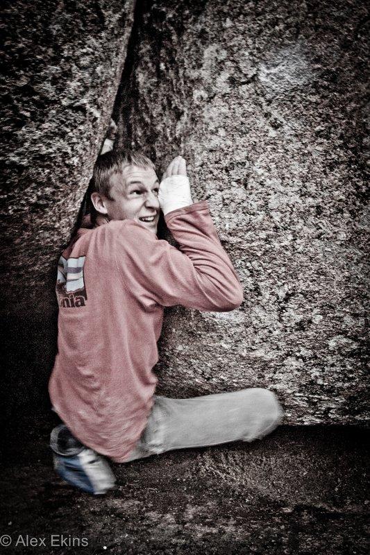 Pete Whittaker bouldering at Vedauwoo, 146 kb