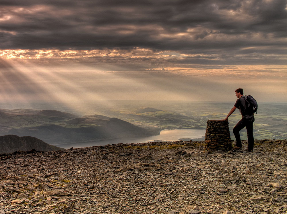 Peter on the summit of Skiddaw, 213 kb