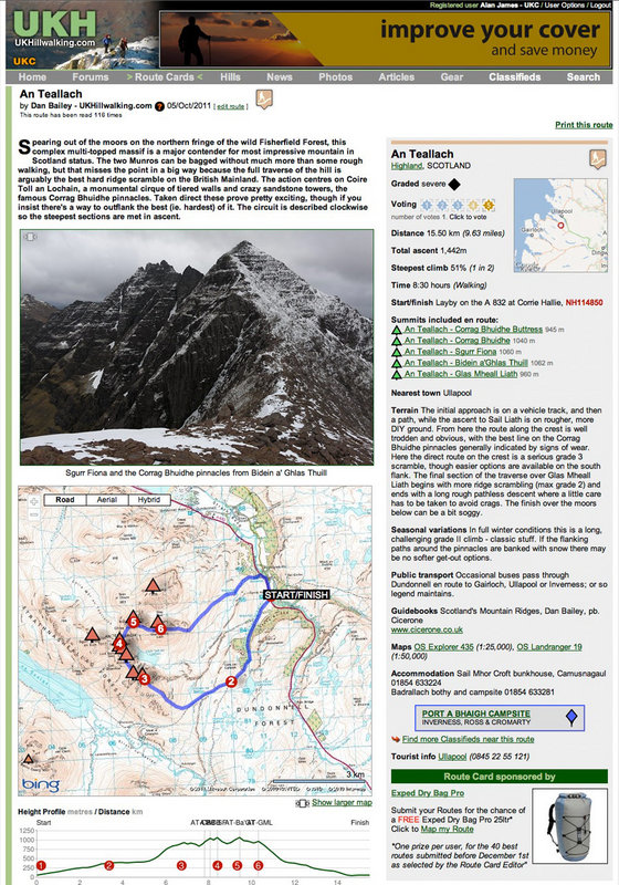Example route card of An Teallach, 179 kb
