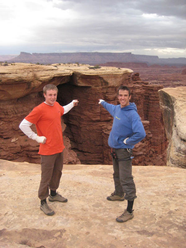 Tom and Pete stare on in awe at Century Crack., 85 kb