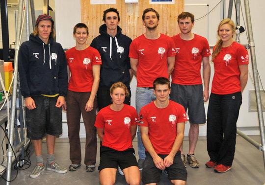 Members of the new GB Bouldering Team at Teeside University, 68 kb
