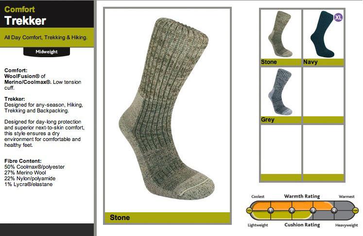 Bridgedale Comfort Trekker Socks, 70 kb