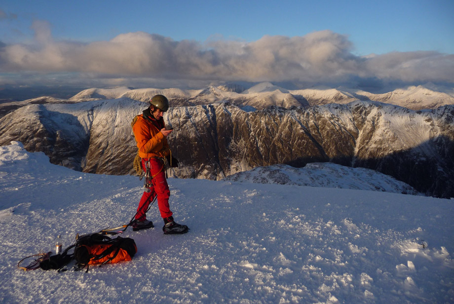 The view from the top of Stob Coire nan Lochain, Glen Coe, 186 kb