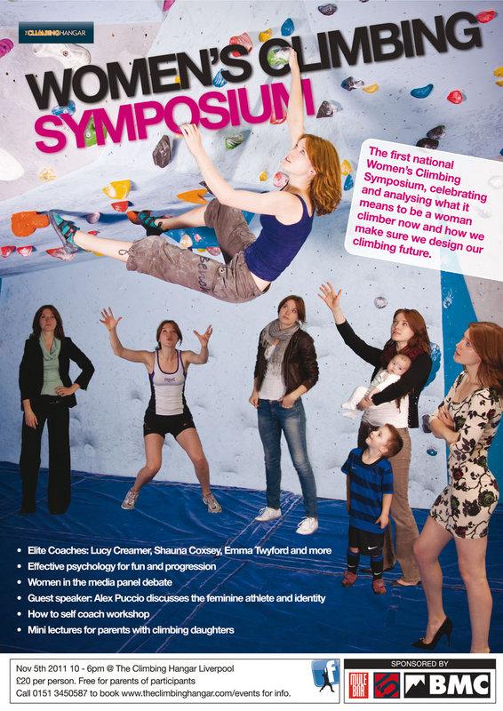 Womens Climbing Symposium poster, 158 kb