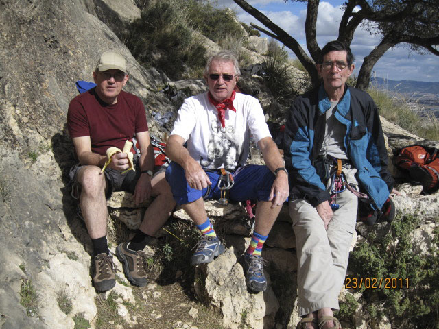 Steve Beswick, Geoff Gosling and Kevin Nagle in the Costa Blanca 2011 - Rucksack Club, 130 kb
