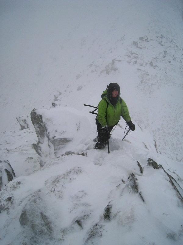 On the northwest ridge of Pen yr Helgi Du, 60 kb