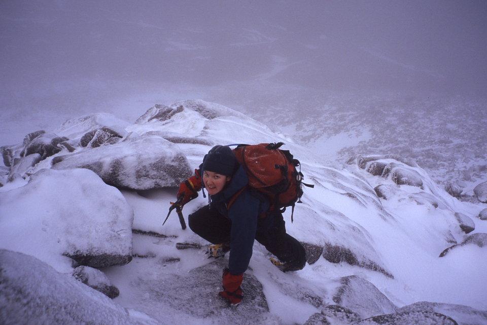 On the northeast ridge of Sgor an Lochain Uaine, 94 kb